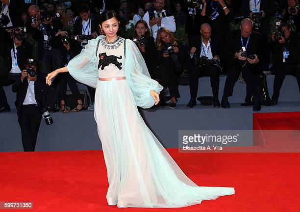 Actress Hikari Mitsushima of the cast of 'Traces Of Sin' attends the premiere of 'The Bad Batch' during the 73rd Venice Film Festival at Sala Grande...