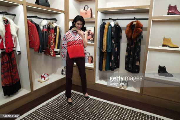 Actress Hikari Mori attends the Coach InStore Event with Selena Gomez at Coach Boutique on September 13 2017 in New York City