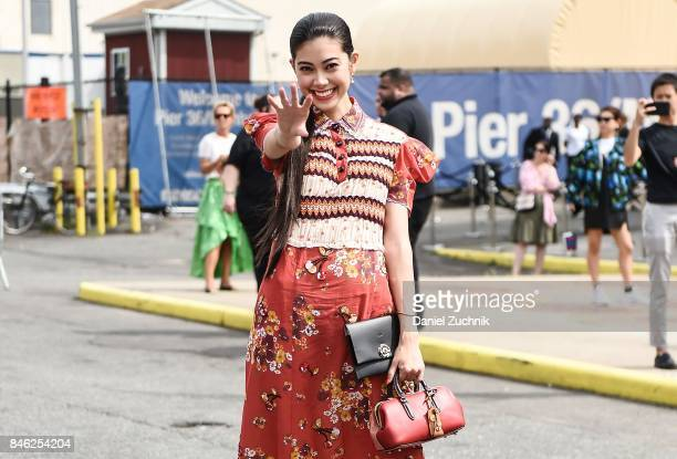 Actress Hikari Mori is seen outside the Coach show during New York Fashion Week Women's S/S 2018 on September 12 2017 in New York City