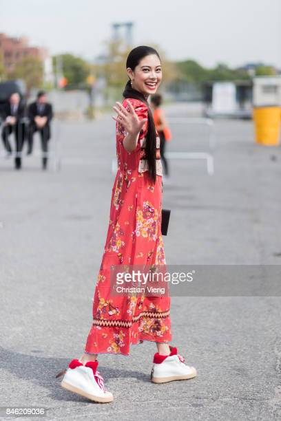 Actress Hikari Mori seen in the streets of Manhattan outside Coach during New York Fashion Week on September 12 2017 in New York City