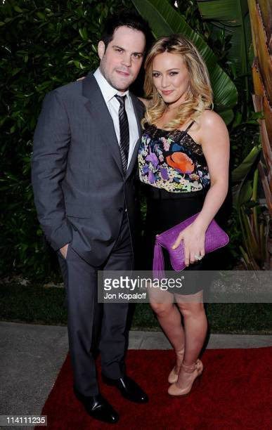 Actress Hilary Duff and husband hockey player Mike Comrie arrive at the Southern Style St Bernard Project Event With Ambassador Britney Spears on May...