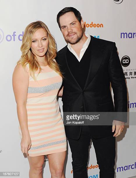 Actress Hilary Duff and husband Mike Comrie arrive at the March Of Dimes Celebration Of Babies Luncheon at Beverly Hills Hotel on December 7 2012 in...