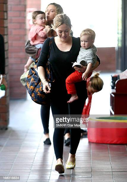 Actress Hilary Duff and Luca Cruz Comrie as seen on May 8 2013 in Los Angeles California