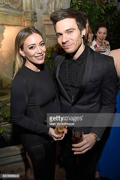 Actress Hilary Duff and musician Matthew Koma attend the Entertainment Weekly Celebration of SAG Award Nominees sponsored by Maybelline New York at...