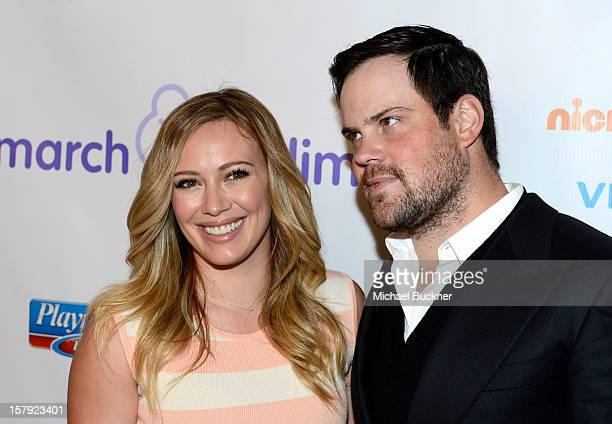 Actress Hilary Duff and NHL player Mike Comrie attend the 7th Annual March of Dimes Celebration of Babies a Hollywood Luncheon at the Beverly Hills...