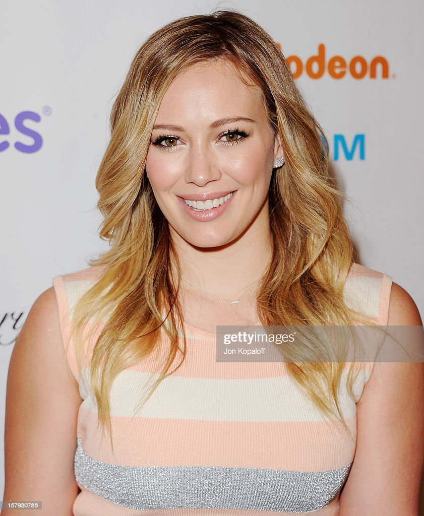 Actress Hilary Duff arrives at the March Of Dimes Celebration Of Babies Luncheon at Beverly Hills Hotel on December 7, 2012 in Beverly Hills, California.