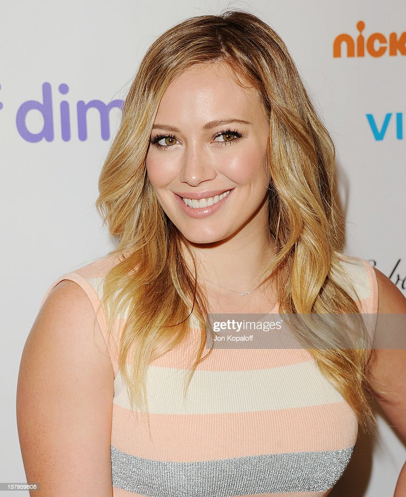 Actress <a gi-track='captionPersonalityLinkClicked' href=/galleries/search?phrase=Hilary+Duff&family=editorial&specificpeople=201586 ng-click='$event.stopPropagation()'>Hilary Duff</a> arrives at the March Of Dimes Celebration Of Babies Luncheon at Beverly Hills Hotel on December 7, 2012 in Beverly Hills, California.