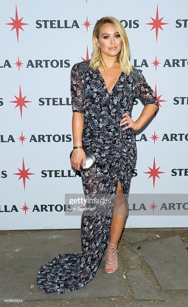 Actress Hilary Duff attends as Stella Artois hosts the One To Remember campaign launch at Chez Sebastian on June 23 2016 in New York City