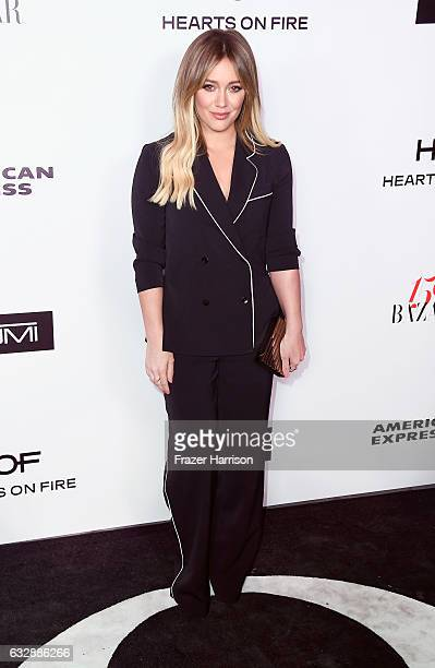 Actress Hilary Duff attends Harper's Bazaar Celebrates 150 Most Fashionable Women at Sunset Tower Hotel on January 27 2017 in West Hollywood...