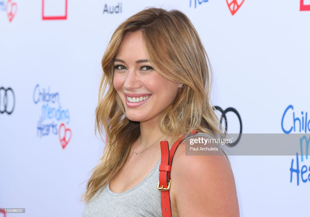 Actress <a gi-track='captionPersonalityLinkClicked' href=/galleries/search?phrase=Hilary+Duff&family=editorial&specificpeople=201586 ng-click='$event.stopPropagation()'>Hilary Duff</a> attends the 1st annual Children Mending Hearts Style Sunday on June 9, 2013 in Beverly Hills, California.