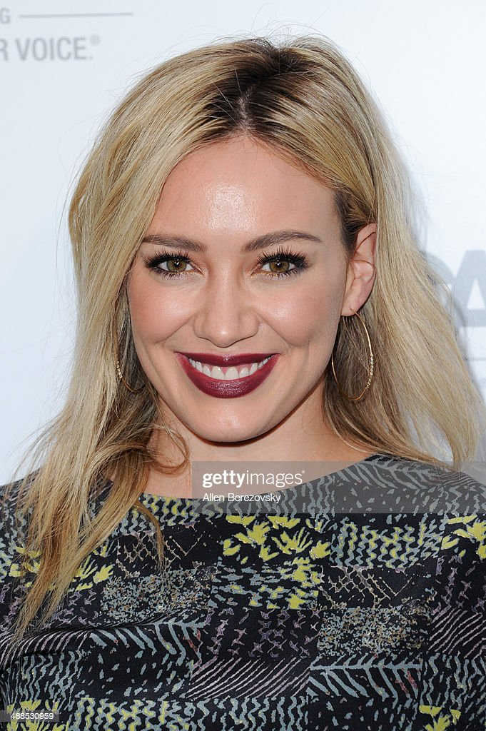 Actress Hilary Duff attends the American Society for the Prevention of Cruelty to Animals celebrity cocktail party on May 6, 2014 in Beverly Hills, California.