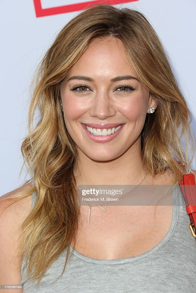 Actress <a gi-track='captionPersonalityLinkClicked' href=/galleries/search?phrase=Hilary+Duff&family=editorial&specificpeople=201586 ng-click='$event.stopPropagation()'>Hilary Duff</a> attends the First Annual Children Mending Hearts Style Sunday on June 9, 2013 in Beverly Hills, California.