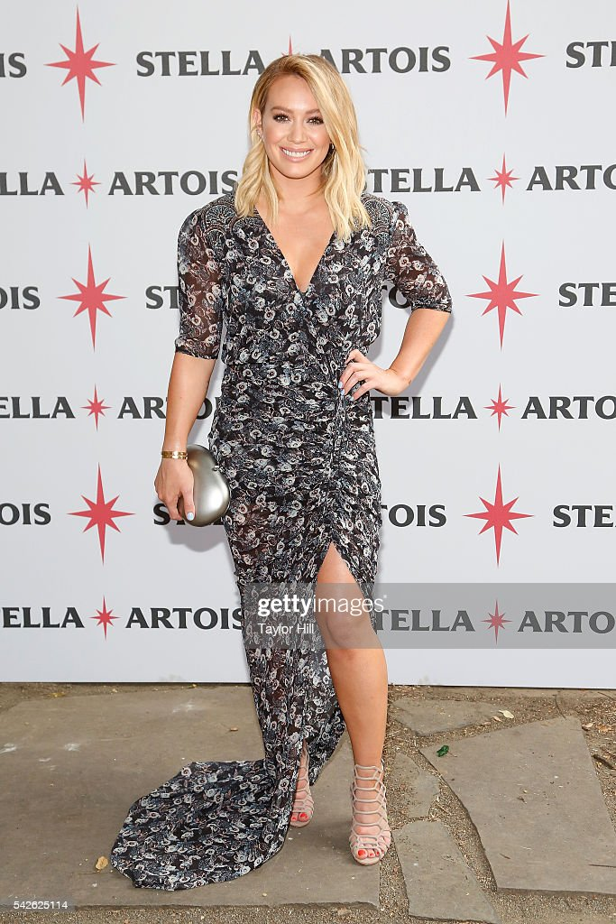 Actress Hilary Duff attends the Stella Artois 'One to Remember' campaign launch at Chez Sebastian on June 23 2016 in New York City