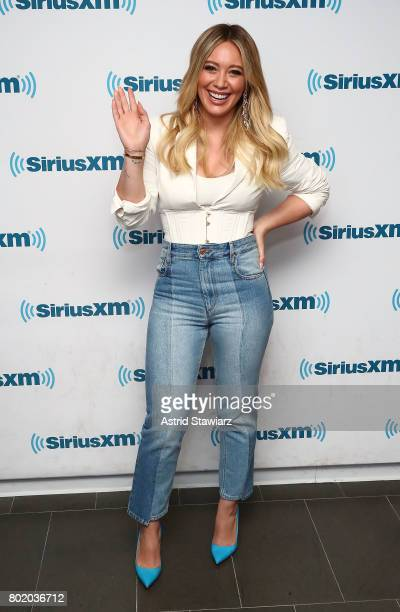 Actress Hilary Duff from the cast of YOUNGER poses for photos before SiriusXM's Town Hall on June 27 2017 in New York City