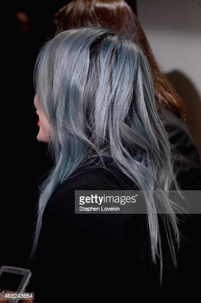 Actress Hilary Duff hair detail attends the premiere of TV Land's 'Younger' at Landmark Sunshine Cinema on March 31 2015 in New York City
