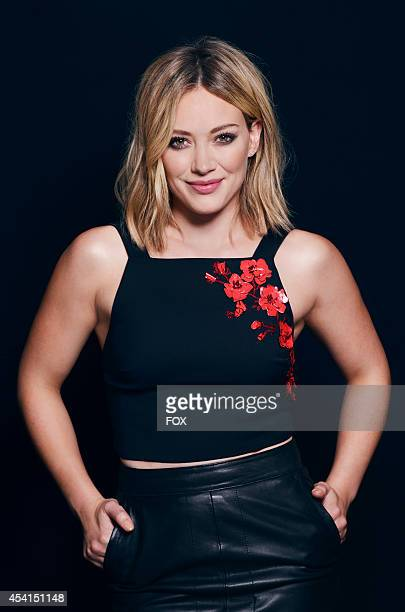 Actress Hilary Duff is photographed at the Fox 2014 Teen Choice Awards at The Shrine Auditorium on August 10 2014 in Los Angeles California