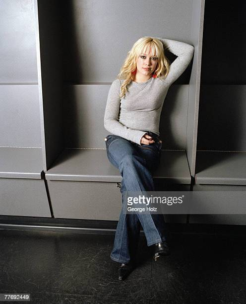 Actress Hilary Duff is photographed for Cosmo Girl Magazine on December 5 2003 at Loft Studios in Hollywood California