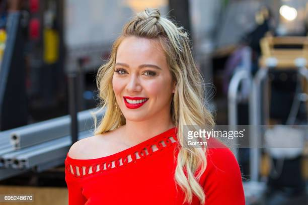 Actress Hilary Duff is seen filming 'Younger' in Union Square on June 12 2017 in New York City
