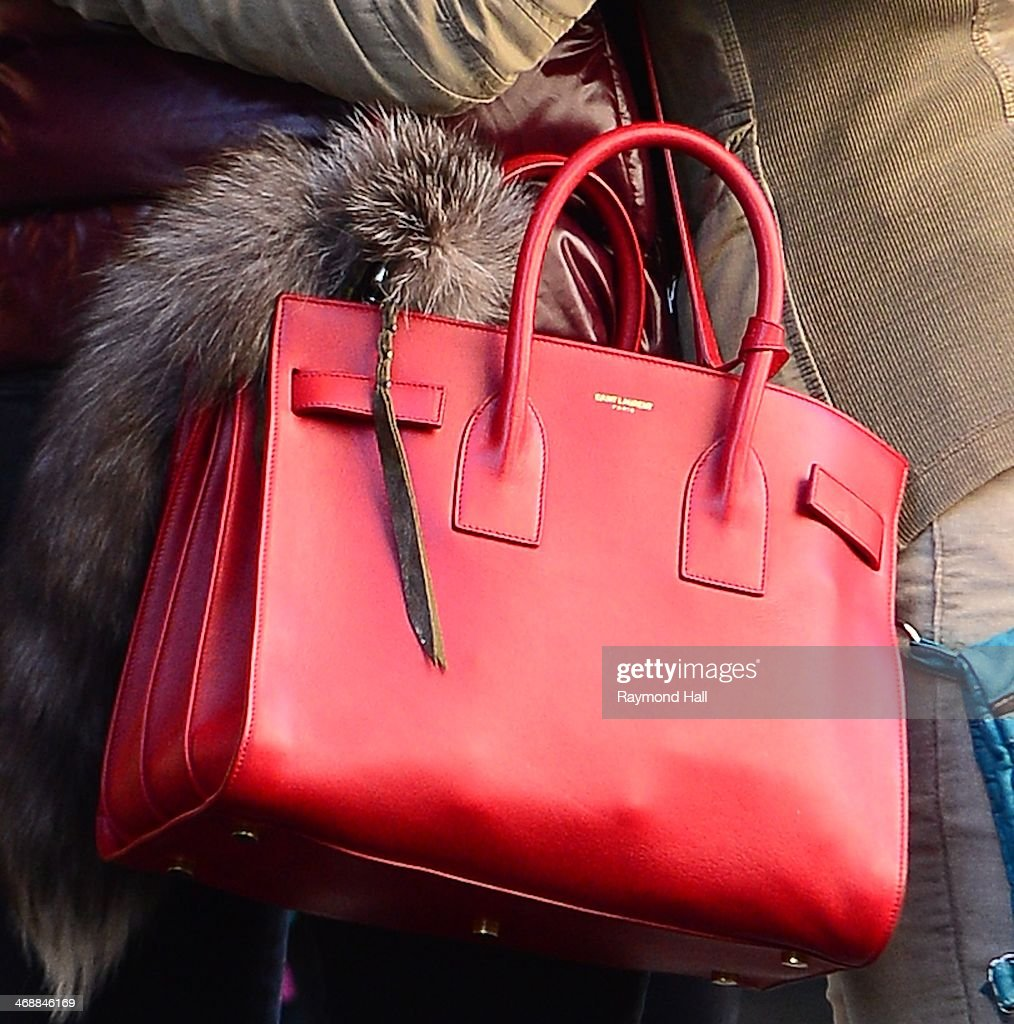 Actress Hilary Duff (purse detail) is seen in Soho on February 11, 2014 in New York City.