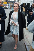 Actress Hilary Duff is seen outside the Zimmermann 2016 fashion show on February 12 2016 in New York City