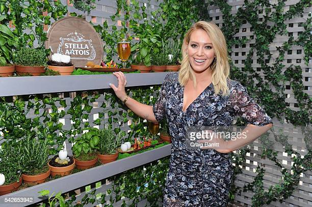 Actress Hilary Duff joins Stella Artois to help kickoff a summer of hosting memorable moments in New York City on June 23 2016