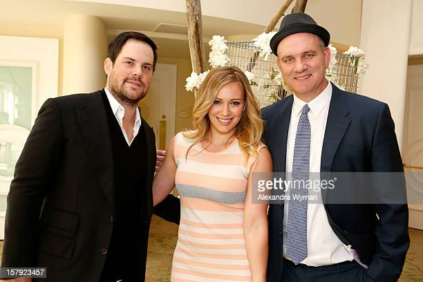 Actress Hilary Duff NHL player Mike Comrie and actor Mike O'Malley attend the 7th Annual March of Dimes Celebration of Babies a Hollywood Luncheon at...