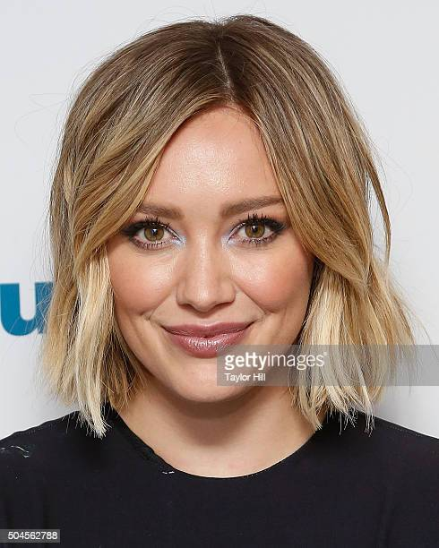 Actress Hilary Duff visits the SiriusXM Studios on January 11 2016 in New York City