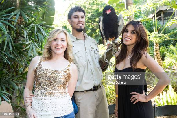 Actress Hilary Hickman Animal Handler Dmetri Domerick and Rachel Sterling attend the 50th Anniversary Beastly Ball at the Los Angeles Zoo on May 20...