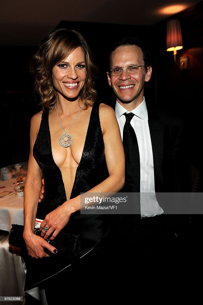 *EXCLUSIVE* Actress Hilary Swank and agent John Campisi attend the 2010 Vanity Fair Oscar Party hosted by Graydon Carter at the Sunset Tower Hotel on March 7, 2010 in West Hollywood, California.