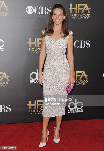Actress Hilary Swank arrives at the 18th Annual Hollywood Film Awards at Hollywood Palladium on November 14 2014 in Hollywood California