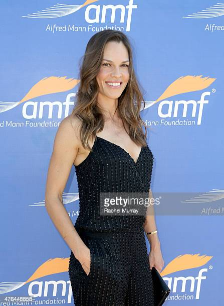 Actress Hilary Swank attends Alfred Mann Foundation's an Evening Under The Stars with Andrea Bocelli on June 8 2015 in Los Angeles California