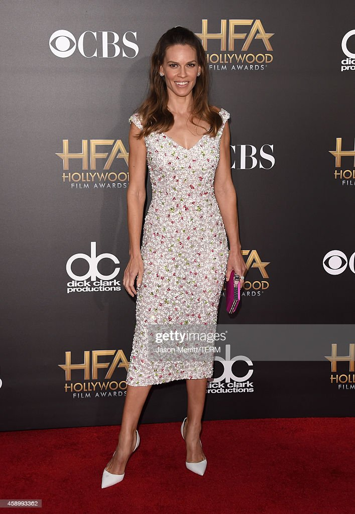 Actress Hilary Swank attends the 18th Annual Hollywood Film Awards at The Palladium on November 14 2014 in Hollywood California