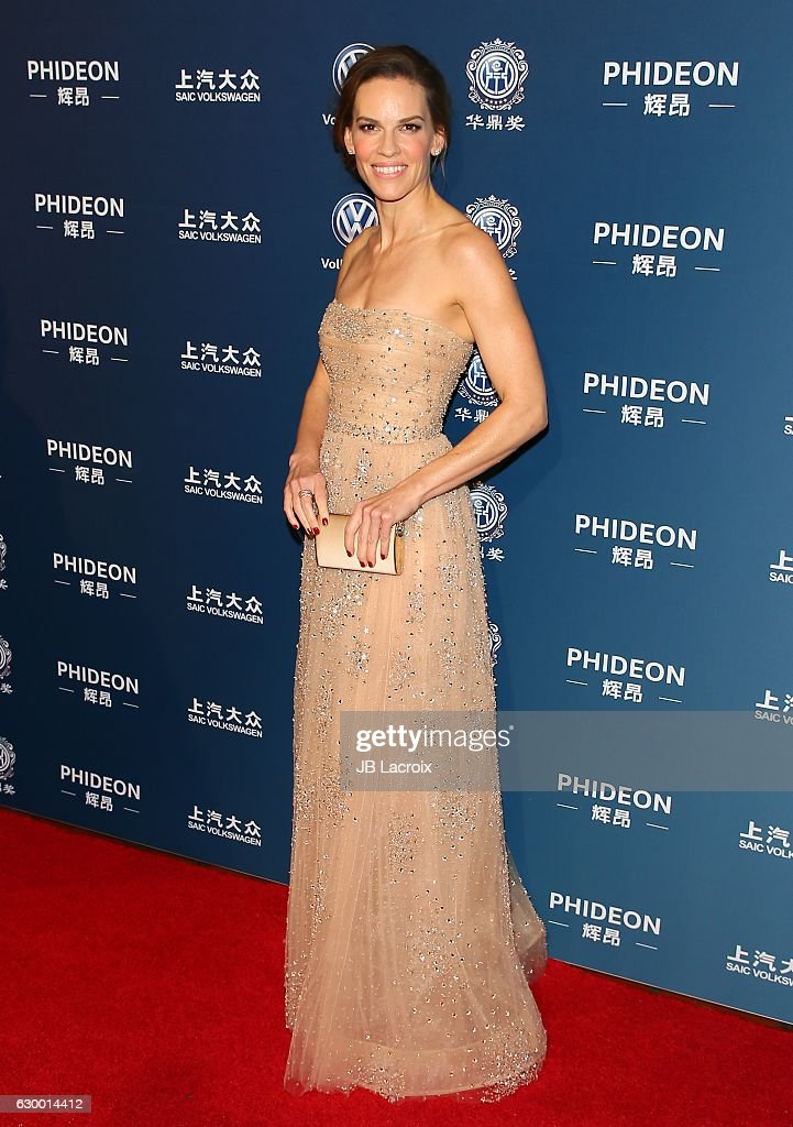 Actress Hilary Swank attends the 21st Annual Huading Global Film Awards at the Theatre at Ace Hotel on December 15, 2016 in Los Angeles, California.