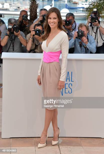 Actress Hilary Swank attends 'The Homesman' photocall at the 67th Annual Cannes Film Festival on May 18 2014 in Cannes France