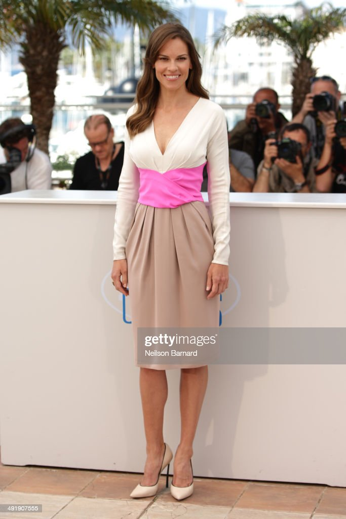 Actress <a gi-track='captionPersonalityLinkClicked' href=/galleries/search?phrase=Hilary+Swank&family=editorial&specificpeople=201692 ng-click='$event.stopPropagation()'>Hilary Swank</a> attends 'The Homesman' photocall during the 67th Annual Cannes Film Festival on May 18, 2014 in Cannes, France.