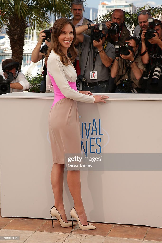 Actress Hilary Swank attends 'The Homesman' photocall during the 67th Annual Cannes Film Festival on May 18, 2014 in Cannes, France.