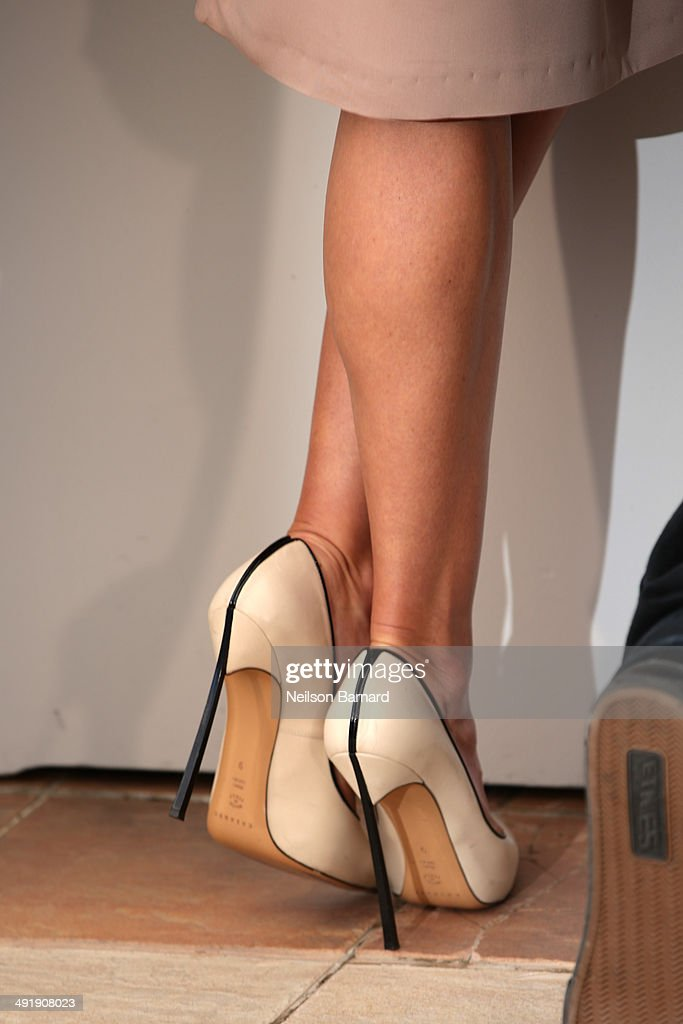 Actress Hilary Swank (shoe detail) attends 'The Homesman' photocall during the 67th Annual Cannes Film Festival on May 18, 2014 in Cannes, France.