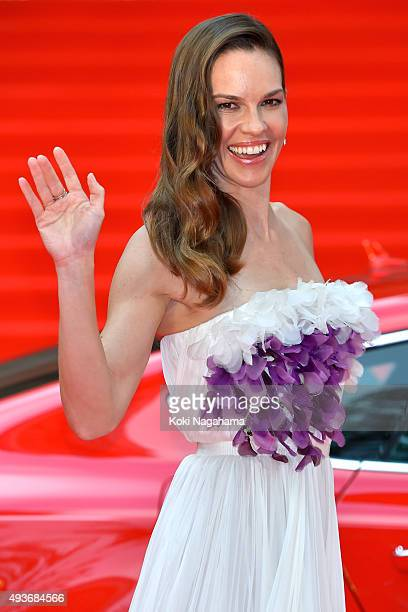 Actress Hilary Swank attends the opening ceremony of the Tokyo International Film Festival 2015 at Roppongi Hills on October 22 2015 in Tokyo Japan