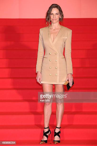 Actress Hilary Swank attends the stage greeting for 'You're Not You' Stage Greeting during the Tokyo International Film Festival 2015 at Shinjuku...