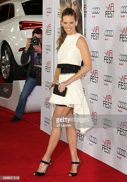 Actress Hilary Swank attends the 'The Homesman' Premiere during AFI FEST 2014 presented by Audi at the Dolby Theater on November 11 2014 in Hollywood...