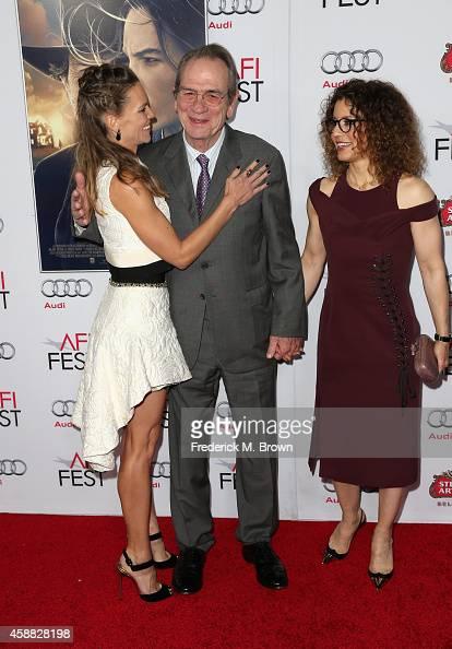 Actress Hilary Swank filmmaker Tommy Lee Jones and photographer Dawn LaurelJones attend the screening of 'The Homesman' during AFI FEST 2014...