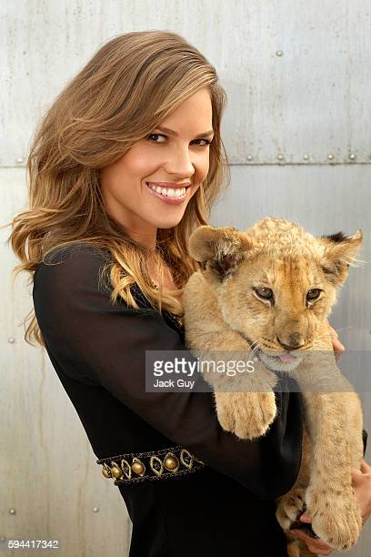 Actress Hilary Swank is photographed for Ladies Home Journal in 2007 in Los Angeles California COVER IMAGE