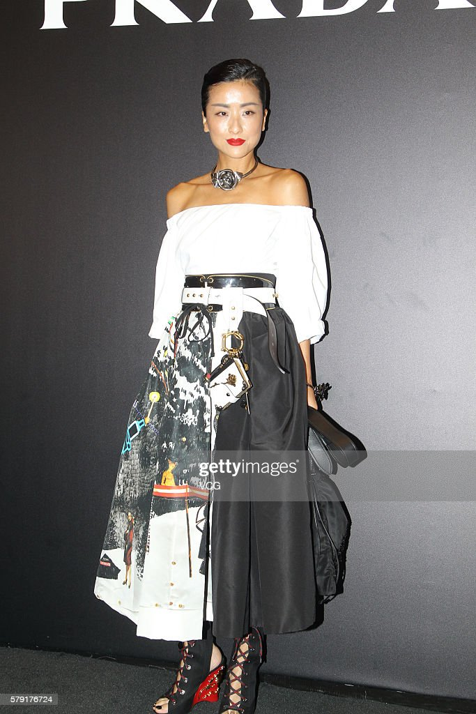 Actress Hilary Tsui attends an opening event of Prada on July 22, 2016 in Hong Kong, China.
