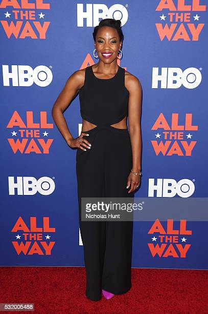 Actress Hilary Ward attends the NYC special screening of HBO Films' 'All The Way' at Jazz at Lincoln Center on May 17 2016 in New York City