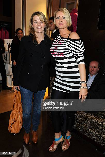 Actress Hoara Borselli and Manila Nazzaro attend the Ester Maria Rivaroli Flagship Store Opening on March 25 2010 in Rome Italy