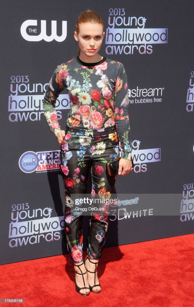 Actress Holland Roden arrives at the 15th Annual Young Hollywood Awards at The Broad Stage on August 1, 2013 in Santa Monica, California.