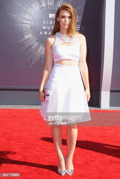 Actress Holland Roden arrives at the 2014 MTV Video Music Awards at The Forum on August 24 2014 in Inglewood California