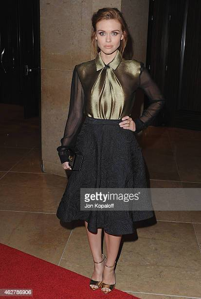 Actress Holland Roden arrives at the 25th Annual IWMF Courage In Journalism Awards at The Beverly Hilton Hotel on October 28 2014 in Beverly Hills...