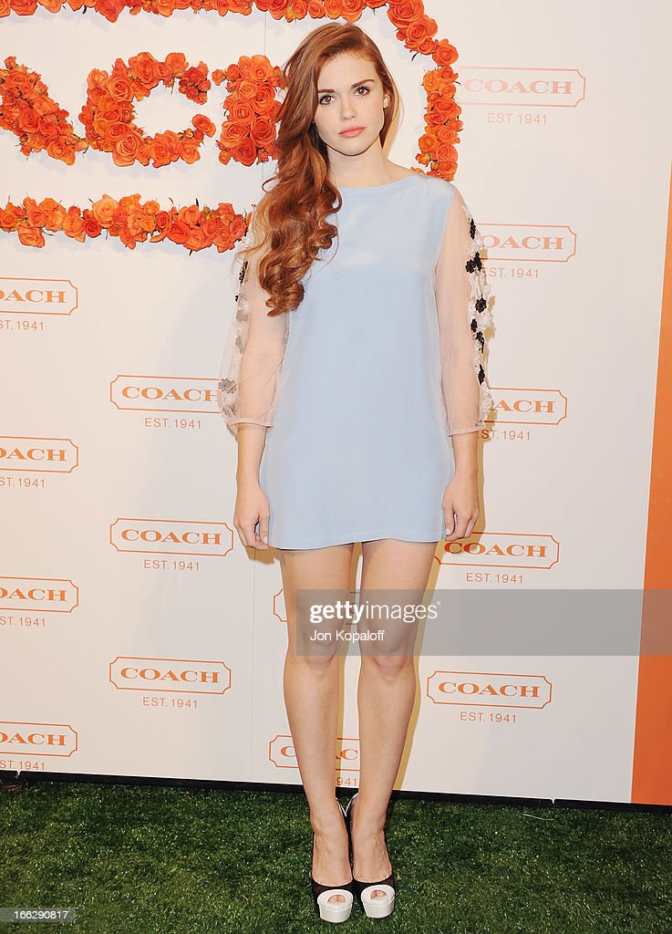 Actress Holland Roden arrives at the 3rd Annual Coach Evening To Benefit Children's Defense Fund at Bad Robot on April 10, 2013 in Santa Monica, California.
