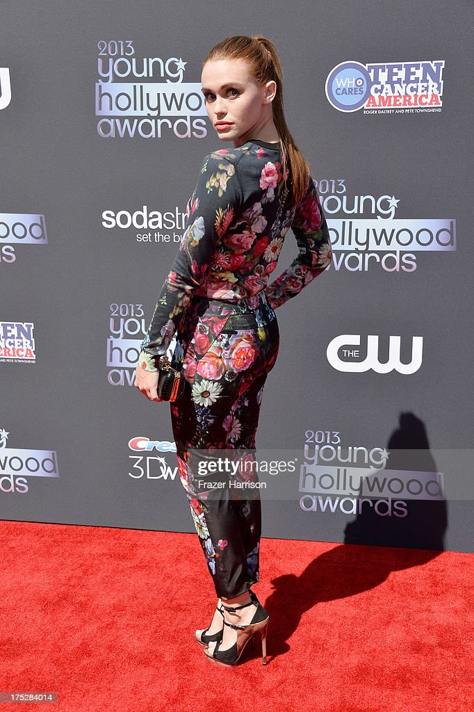 Actress Holland Roden attends CW Network's 2013 Young Hollywood Awards presented by Crest 3D White and SodaStream held at The Broad Stage on August 1, 2013 in Santa Monica, California.